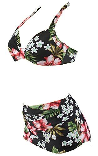 Aloha-Beachwear Damen Bikini A1026 Mehrfarbig Gr. 38 - 2