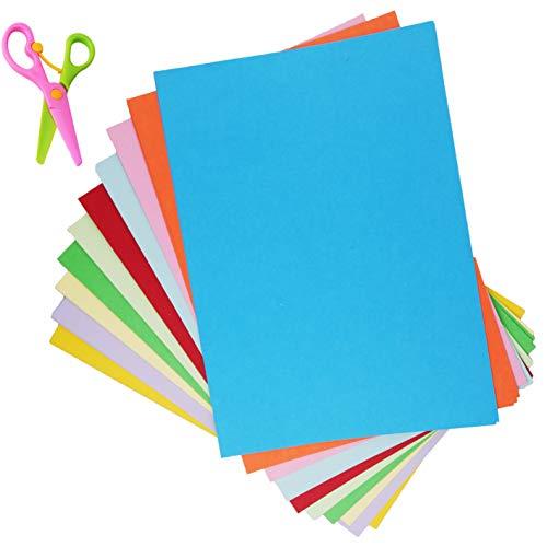 50 Blatt Tonkarton A4 Bunt,Tonpapier,Bastel-Papier, Bogen durchgefärbt,DIN-A4 TonKarton Bunt,10 Farben Bastelkarton Bunt 230g/m² Fotokarton A4 Bunt zum Basteln und Gestalten ,Origami