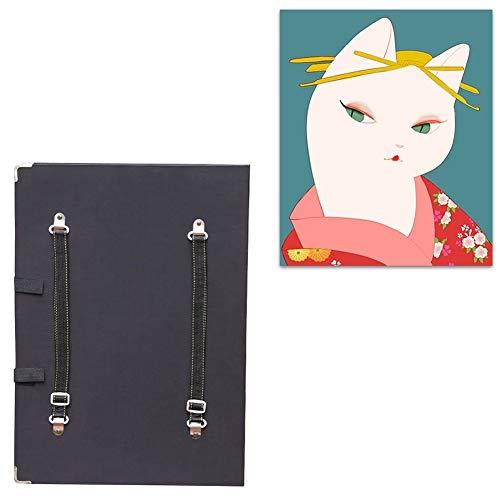 Fensterabzieher Bilderständer Art Zeichenbrett Tisch mit Papierbeutel Art Lagerung im Freien Tasche Ketchpad Schulter zurück Atelierstaffelei (Color : Black, Size : 4K)