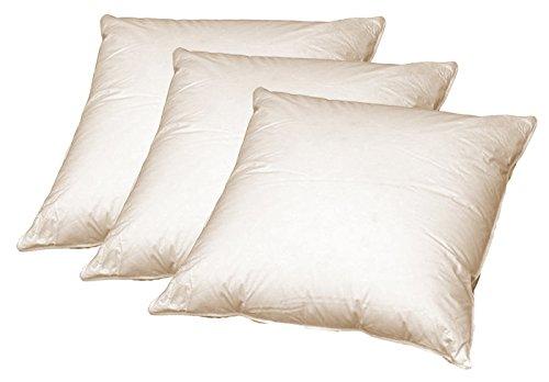 beties 3 x Sofa Federkissen 50x50 cm (echte Federn) robust und formstabil