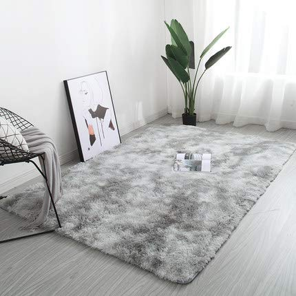 Sarah Duke tapis salon moderne tapis de chambre doux tapis shaggy gris adulte pour Chambre d