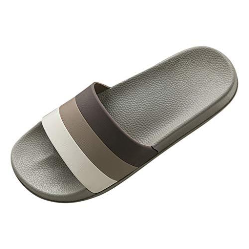 Pantofole Estate Ribbon Slip-on Open Toe Platform Bottom Casual Scarpe Uomo (43-44 EU,caffè)