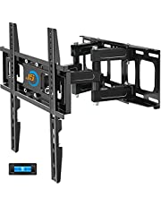 """Full Motion TV Wall Mount,JUSTSTONE TV Wall Mount Swivel and Tilt TV Mount with Height Setting,TV Bracket Articulating Arms for Most 28-65 Inch Flat Curved TVs up to 121lbs,Max VESA 16""""x16""""(400x400mm)"""