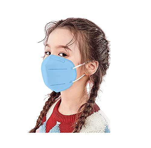 JIEYONG 20/25/50/100 stück kinder 5-lagig,face shield für children, farbe einfarbig, atmungsaktiv fashion outdoor elastic ear loop face bandanas cover wiederverwendbar