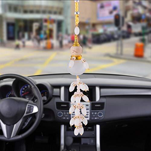 Layyqx Fortunata-hanger voor de auto, pompoen, fles voor parfum, leeg ornamenten voor binnenruimtes, auto achteruitkijkspiegel decoratie hanger
