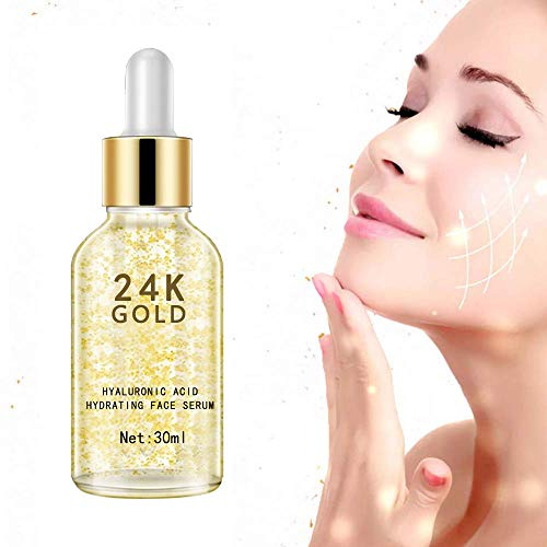 41H3Fb59J5L - 24K Gold Face Serum, Anti-Aging Skin Repair, Topical Facial Serum with Hyaluronic Acid, Helps with Moisture, Firm and Whitening Skin (1 FL OZ)