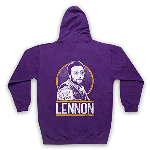 The Guns Of Brixton John Lennon Tribute Sweat a Capuche avec Un Fermeture Eclair des Adultes, Violet, Large