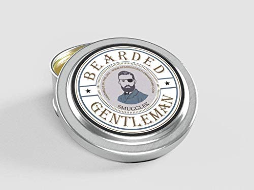 Bearded Gentleman Smuggler Men's Solid Cologne - Clove, Pepper, Nutmeg, and Vanilla - 1/2 oz - Natural Ingredients - Travel Sized Pocket Tin - Best Smelling Scent - Perfect Gift - Small Batch Handmade