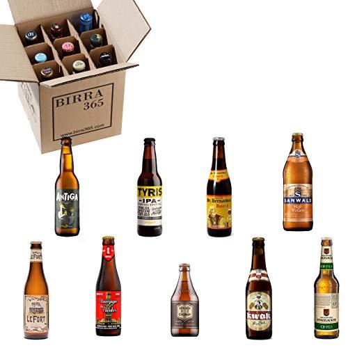 Caja degustación 9 cervezas diferentes.La caja perfecta para catar 9 estilos de...