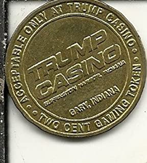 $ 2 cents trumps casino gaming token coin gary indiana obsolete