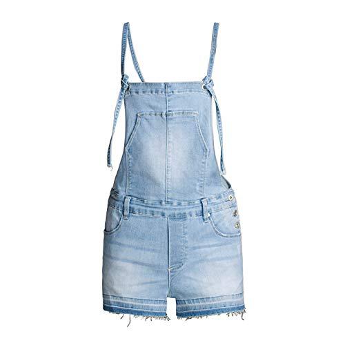 Pantalones Cortos de Mezclilla para Mujer Pantalones Cortos de Mezclilla de Tendencia de Moda de Verano Sueltos Finos de Cintura Alta Casuales Monos M