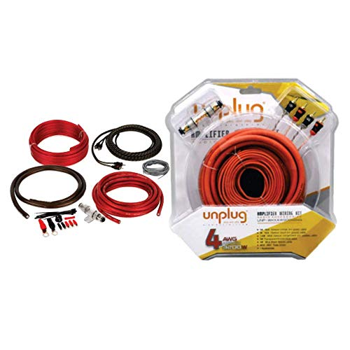 Suzec Unplug 4 Guage Wiring Kit/Car Amplifier Installation Kit for Proper Supply to Car Amplifier