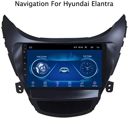 Android 8.1 GPS Navigation Radio TV, 9 Zoll Full Touch Screen Bildschirm Autoradio, für Hyundai Elantra/Avante 2012-2014, mit DAB CD DVD Lenkradkontrolle Bluetooth USB Stereo,WiFi,1+16G-E.