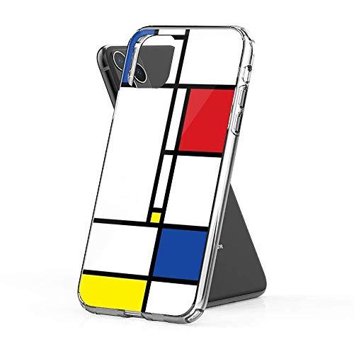 Mondrian Minimalist De Stijl Modern Art Custodie per Telefoni iPhone 12/11 Pro Max 12 mini SE X/XS Max XR 8 7 6 6s Plus Custodie Cover