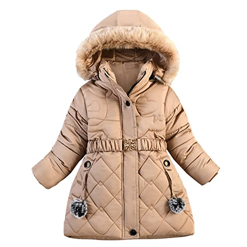 YOYORI Infant Baby Coat Jacket Clothes - Toddler Girls Boys Winter Thick Warm Hooded Outwear (Coffee, 18-24 Months)