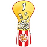 mytag Popcorn Golf Head Cover for 460cc Drivers and Woods Funny Club Headcovers