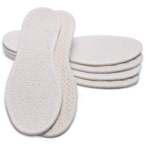 MAROL Barfußsohle aus 100% Baumwolle Frottee mit Latexdämpfun, Antibakteriell, Aktivkohle, Atmungsaktiv/Größe 36-47 (41), 3er