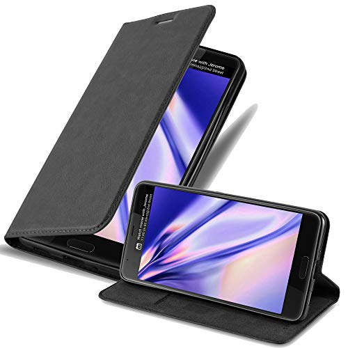 Cadorabo Coque pour HTC U Ultra en Noir Nuit - Housse Protection avec Fermoire Magnétique, Stand Horizontal et Fente Carte - Portefeuille Etui Poche Folio Case Cover