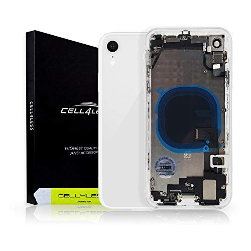 Cell4less Housing Replacement for The iPhone XR Model - Full Housing Unit with Small Parts (White)