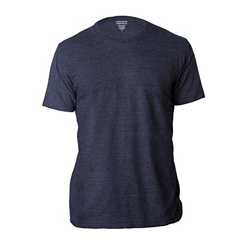 BANANA REPUBLIC Men's Crew Neck Premium-Wash T Shirts (Navy, Medium)