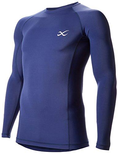 [シーダブリューエックス] トップス 長袖 丸首 / セカンドボディ 吸汗速乾 UVカット メンズ CHO020 コン 日本 L (日本サイズL相当)
