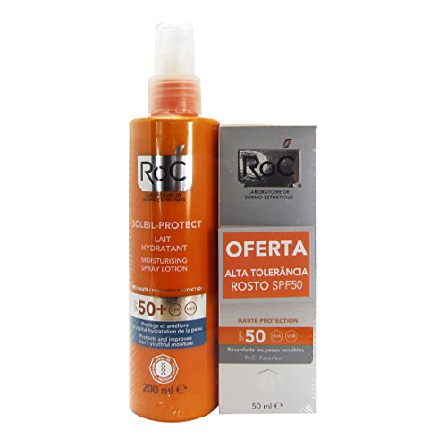 Roc Pack Soleil Protect Fluido Hidratante Spf50 200ml + Fluido Alta Tolerancia Spf50 + 50ml