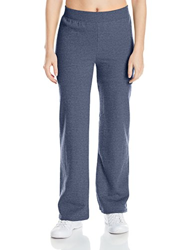 Hanes womens ComfortSoft EcoSmart Women's REGULAR Open Bottom Leg Sweatpants Hanes Navy Heather XX-Large