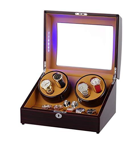 LOKKG Cajas Giratorias para Relojes con Tapa Y Almacenamiento, Watch Winders Automático...