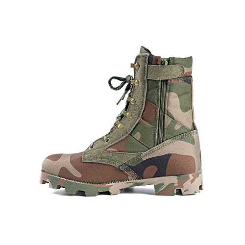 HAOLIN Army Boots Men Military Tactical Combat Boots Wasserdichter Stiefel,Green-44