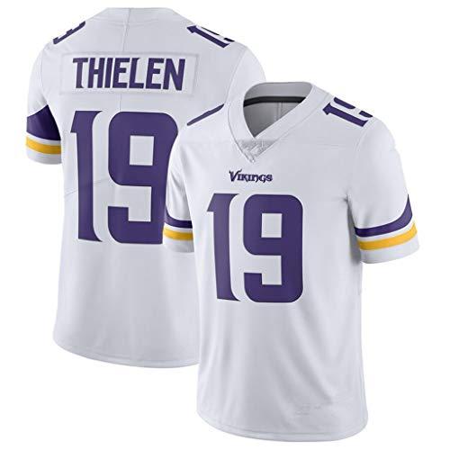 cjbaok NFL Minnesota Vikings Football Trikot 19# Elite Edition Trikot Kurzarm Top Stickerei Fans Version Fan T-Shirts,White,XXXL