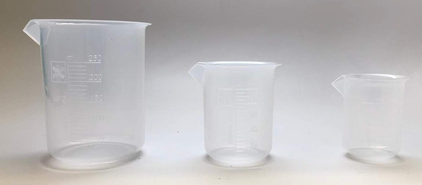 Set of 3 NEW before selling ☆ Polypropylene beakers All stores are sold 500 ml 250 100 Plastic Beak