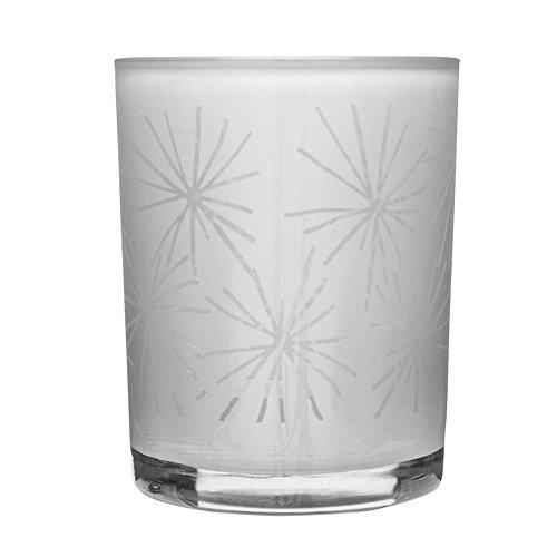 Sagaform Winter Kerzenhalter Star, Glas, Weiß, 12.5 x 10 x 12.5 cm