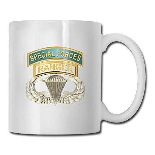 Airborne Badge Ranger SF Tabs Personalized White Coffee Mug Tea Cup Gifts T Regalos del día de la madre, Regalos del día del padre, Regalos de Navidad y Regalos para abuelos