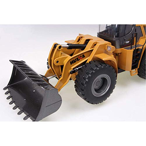 RC Auto kaufen Baufahrzeug Bild 5: FM- Electrics FM1583  Die Cast Metall-Radlader mit Sound 1:14 mit 10 Kanal Sender Huina 583*