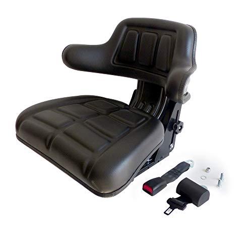 Sedile Omologato con Cinture di Sicurezza con Arrotolatore per Trattore Universale Regolabile in Altezza Gopart TS15601GP in PVC