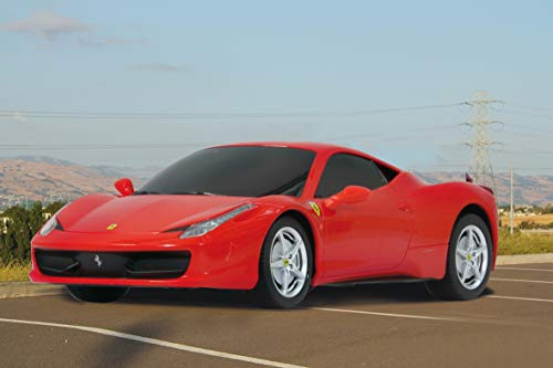 Jamara 404120 Auto Ferrari 458 Italia 1:24 40MHz-offiziell lizenziert, 1 Stunde Fahrzeit bei ca. 9 Km/h, perfekt nachgebildete Details, hochwertige Verarbeitung, rot