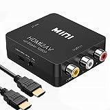 BEELAND HDMI to RCA 変換コンバーター HDMI to AV コンポジット HDMIからアナログに変換アダプタ 1080P対応 PAL/NTSC切り替え 音声出力 HDMIケーブル1.5m付き