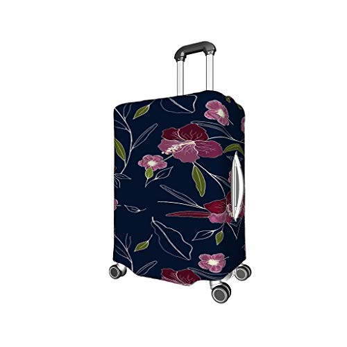 BTJC88 Plant Flowers Travel Luggage Case Covers - Plant Prints Multi Size Suit for Lots of Trolley Black XL (29-32 inch)