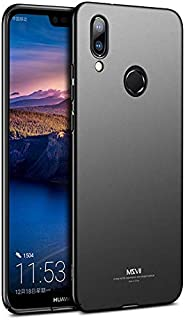 MSVII Ultra Thin Smooth Matte Hard Back Cover Phone Cases For Huawei Nova 3e,Black