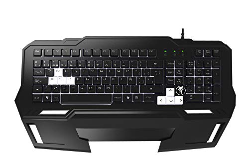 Mars Gaming MKHA1 - Teclado gaming para PC (respuesta ultra-rápida, iluminación LED blanca,...