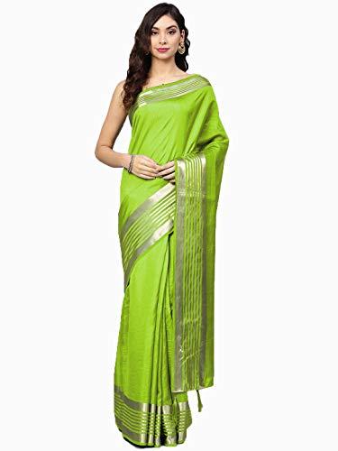 chhabra 555 Art Silk with Blouse Piece Saree (VXEP8639_Lime Green_OneSize)