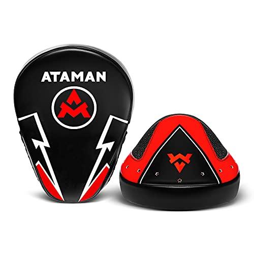 ATAMAN® Pratzen Boxen – Gebeugte Form für mehr Komfort – Kickboxen – Grip Ball für Starke Dämpfung