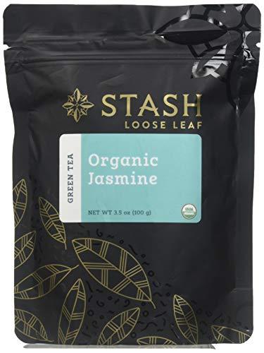 Stash Tea Organic Jasmine Green Loose Leaf Tea 3.5 Ounce Pouch Loose Leaf Premium Organic Green Tea for Use with Tea Infusers Tea Strainers or Teapots, Drink Hot or Iced, Sweetened or Plain