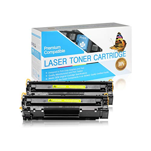 USA Advantage Compatible Toner Cartridge Replacement for HP 85A / CE285A (Black,2 Pack)