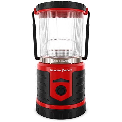 Blazin' Battery LED Rechargeable Lantern   500 Hour Runtime   Power Bank   Storm Light (600 Lumen, Red)