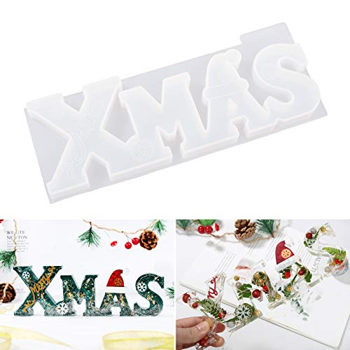 LET'S RESIN Xmas Resin Molds, Christmas Resin Molds, Silicone Letter Molds for Making Decoration, for Christmas