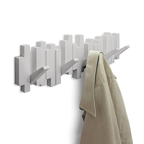 Brilliant firm Creative DIY Mur américain 45 degrés Cintre Porche Manteau Crochet Mur rangée Crochet 49.5 * 19 cm (Color : Blanc)