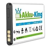 Akku-King Akku kompatibel mit Snom 00001595, 02-109457, 60020438 - Li-Ion 1000mAh - für M3, M9, M9R, M9R-ES, M9R-HC, 1271, 2758