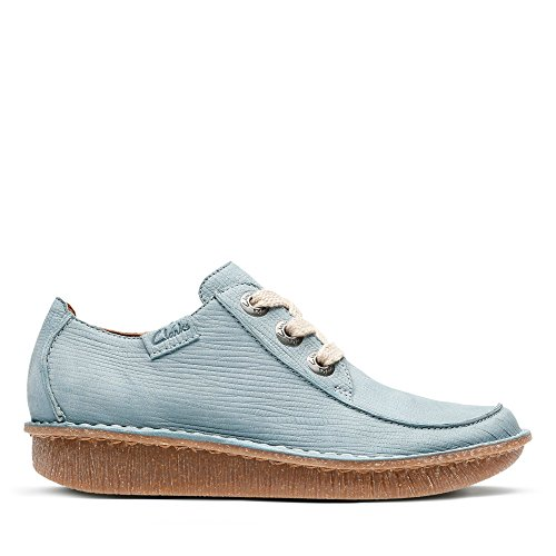 Clarks Damen Funny Dream Derbys, Blau (Blue Grey), 39.5 EU