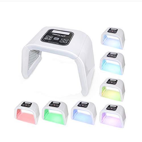 Portable PDT LED Photon Luminothérapie 7 Couleurs LED Masque De Lumière Photothérapie Lampe Machine Pour Le Rajeunissement De La Peau Acné Remover
